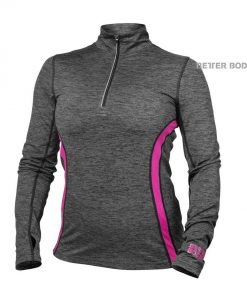 Better Bodies Performance Mid Longsleeves Graphite/pink