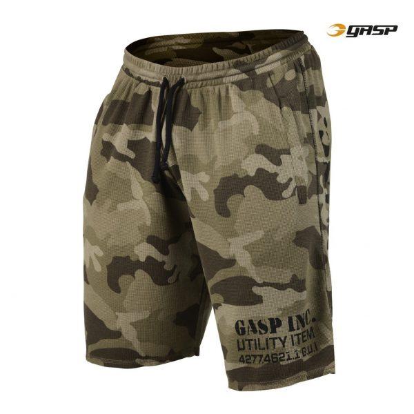Gasp Thermal Shorts Green Camoprint