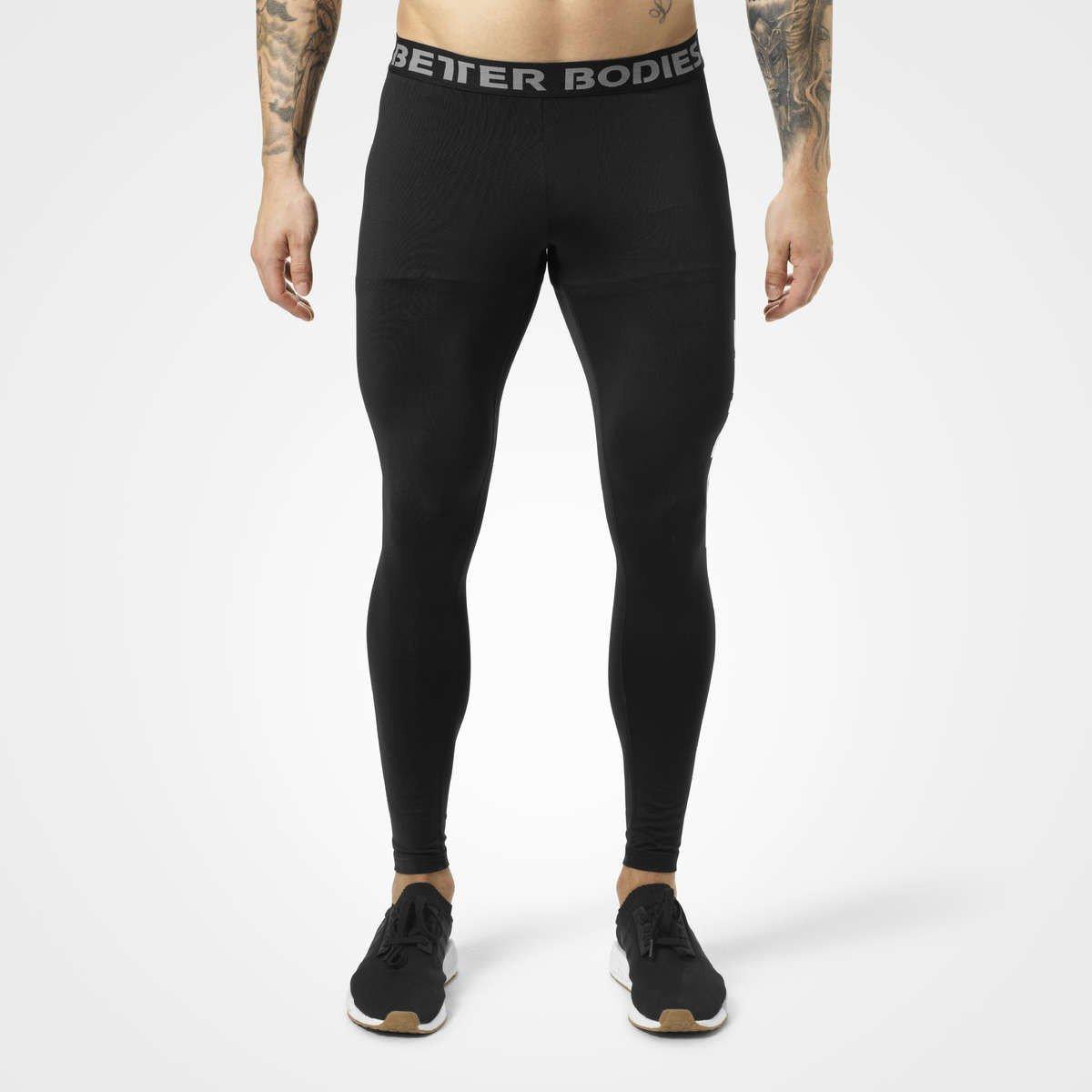 tavata laaja valikoima tyylikkäät kengät Better Bodies Men's Logo Tights Black - Final Sale