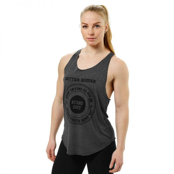 Better Bodies Bowery Tank Top Anthracite Melange