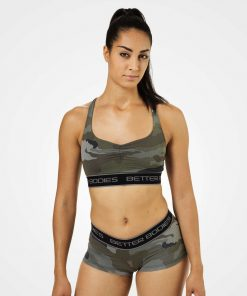 Better Bodies Athlete Short Top Green Camo Print