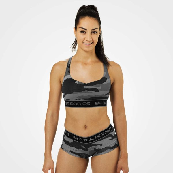 Better Bodies Athlete Short Top Grey Camo Print