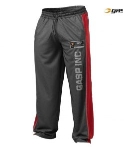 Gasp No1 Mesh Pants Black red