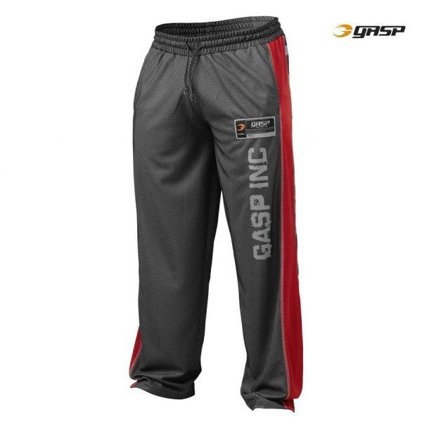 Gasp No1 Mesh Pants Black red