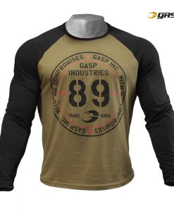 Gasp Raglan Long Sleeves Tee Military Olive Black