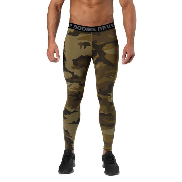 NEW - BETTER BODIES HUDSON LOGO TIGHTS - DARK GREEN CAMO