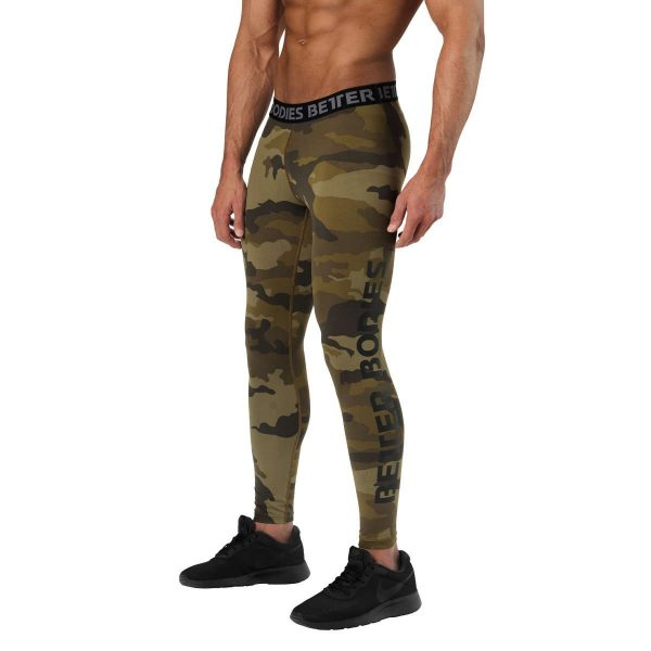 Better Bodies Hudson Logo Tights Dark Green Camo