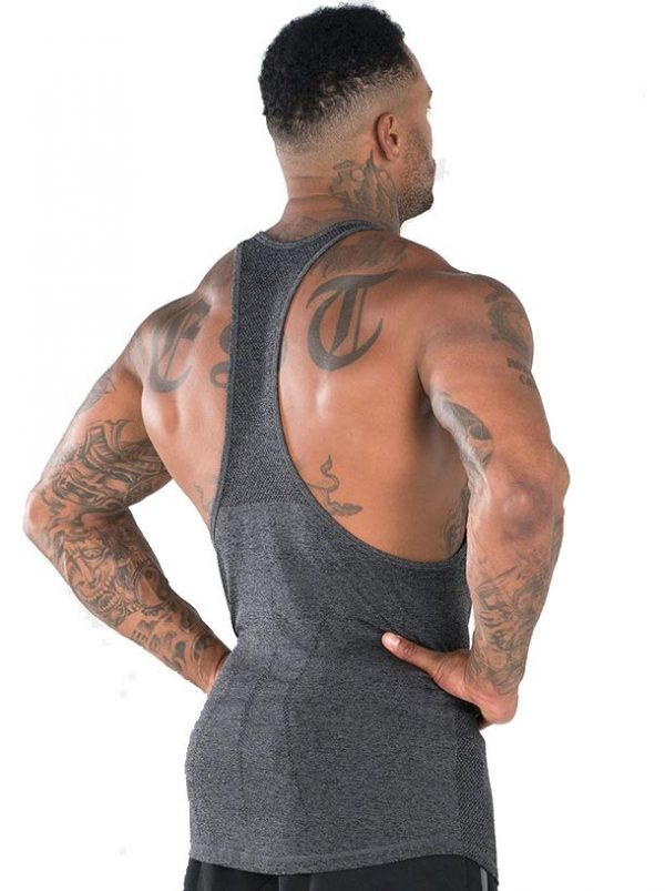 NEW - RYDERWEAR SEAMLESS T - BACK - CHARCOAL MARLE
