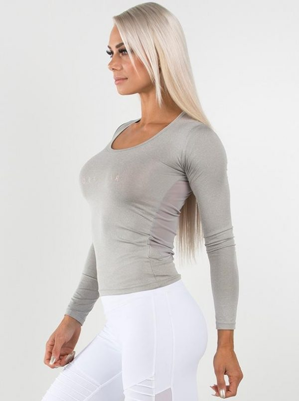 NEW - RYDERWEAR HIGHWAY LONG SLEEVES TOP - GREY