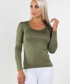 NEW - RYDERWEAR HIGHWAY LONG SLEEVES TOP - KHAKI