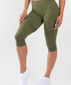 NEW - RYDERWEAR RENEGADE CAPRI LEGGINGS - KHAKI