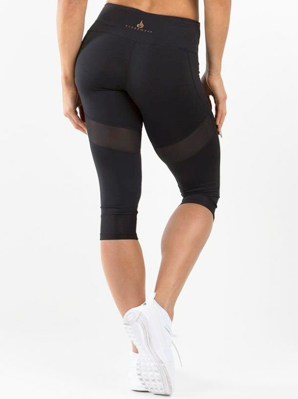 NEW - RYDERWEAR RENEGADE CAPRI LEGGINGS - BLACK