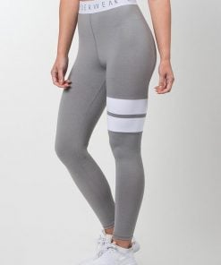 NEW - RYDERWEAR BLOCK BANDED LEGGING - GREY