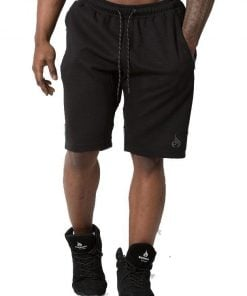 NEW - RYDERWEAR POWER TRACK SHORT - BLACK/CHARCOAL