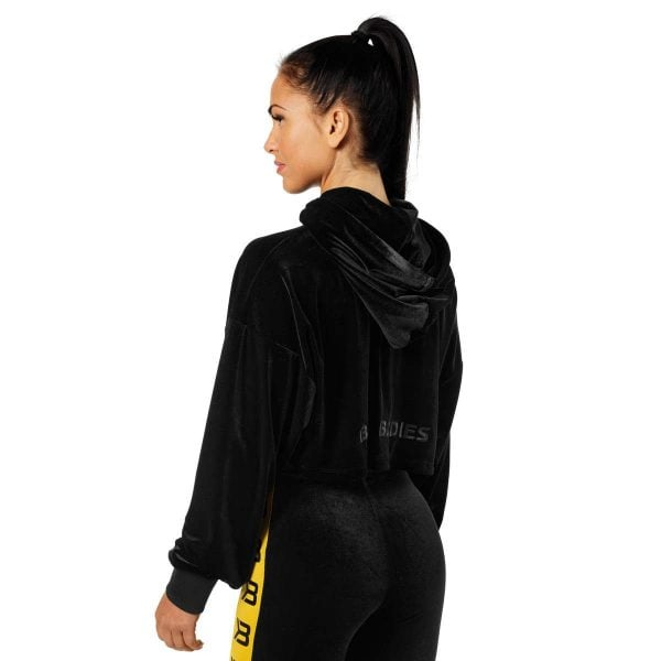 NEW - BETTER BODIES CHRYSTIE CROP HOODIE, BLACK