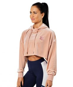 Better Bodies Chrystie Crop Hoodie Peach Beige