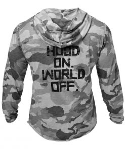 GASP World Off Hoodie Snow Camo