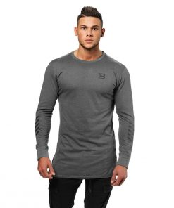 Better Bodies Mens Bronx Long Sleeve Grey