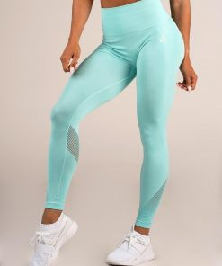 NEW - Ryderwear Seamless Tights - Aqua Marle