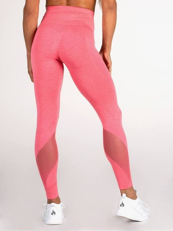 NEW - Ryderwear Seamless Tights - Coral Marle