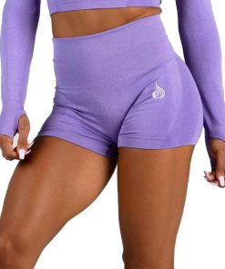 Seamless Shorts Purple Marle