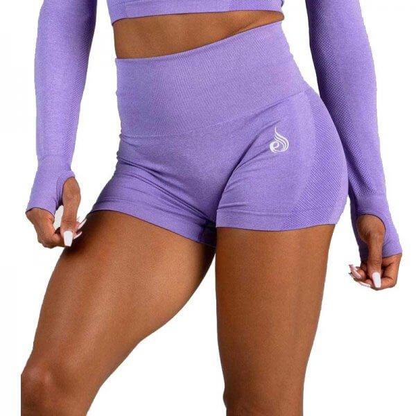 Seamless Shorts Purple Marle