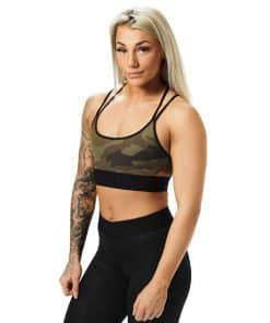 Sports Bra Dark Green Camo