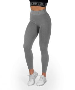 Rib Seamless Leggings Grey Melange