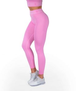 Rib Seamless Leggings Bubblegum Pink