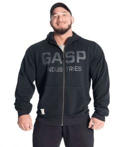 Gasp layered hoodie Washed Black